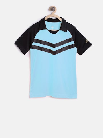 Adidas Boys Green Solid Polo Collar T-shirt Adidas Tshirts at myntra