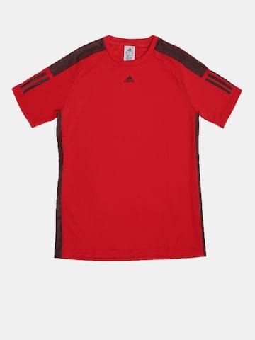 Adidas Boys Red Solid Round Neck BARRICADE T-shirt Adidas Tshirts at myntra