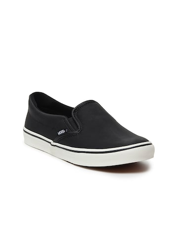 Vans Women Black Slip-On Asher Low Sneakers Vans Casual Shoes at myntra