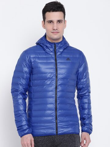 Adidas Men Blue VARILITE HO Sporty Jacket Adidas Jackets at myntra