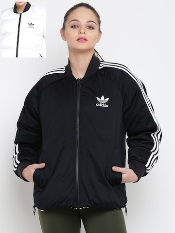 Adidas Originals Women Navy SST REV Bomber Jacket Adidas Originals Jackets at myntra