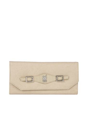 Baggit Women Beige Solid Three Fold Wallet Baggit Wallets at myntra