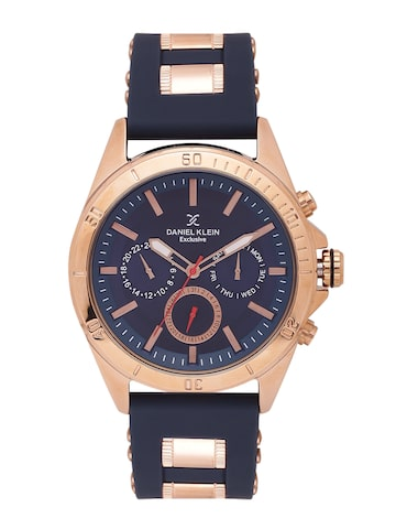 Daniel Klein Exclusive Men Navy Multifunction Analogue Watch DK11084-5 Daniel Klein Watches at myntra
