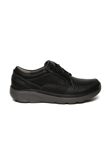 Clarks Men Black Leather Derbys Clarks Casual Shoes at myntra