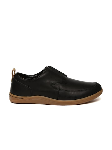 Clarks Men Black Leather Slip-On Sneakers Clarks Casual Shoes at myntra