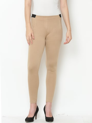 United Colors of Benetton Beige Ankle-Length Leggings United Colors of Benetton Leggings at myntra
