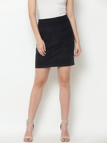 United Colors of Benetton Navy Pencil Skirt United Colors of Benetton Skirts at myntra