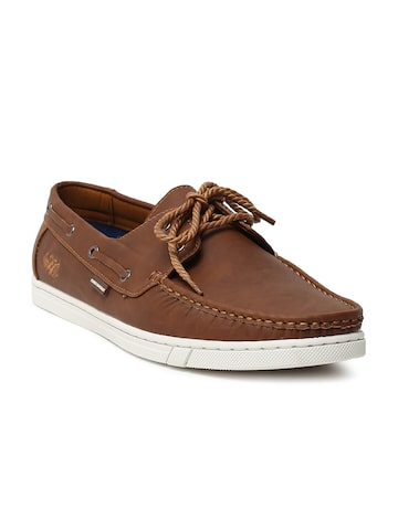 Flying Machine Men Brown James Boat Shoes Flying Machine Casual Shoes at myntra