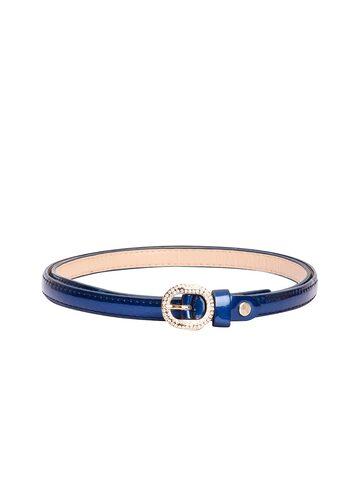 BuckleUp Women Blue Embellished Belt BuckleUp Belts at myntra