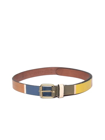 United Colors of Benetton Women Multicoloured Hand-Painted Leather Belt United Colors of Benetton Belts at myntra