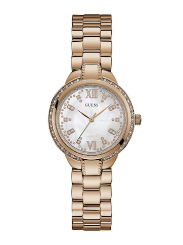 GUESS Women White Analogue Watch W1016L3 GUESS Watches at myntra