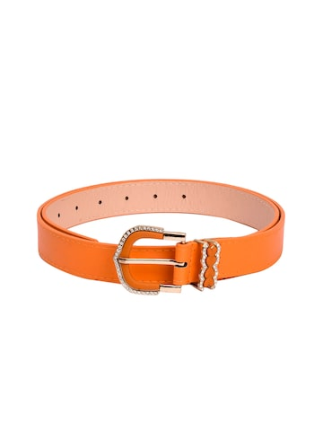 BuckleUp Women Orange Embellished Belt BuckleUp Belts at myntra