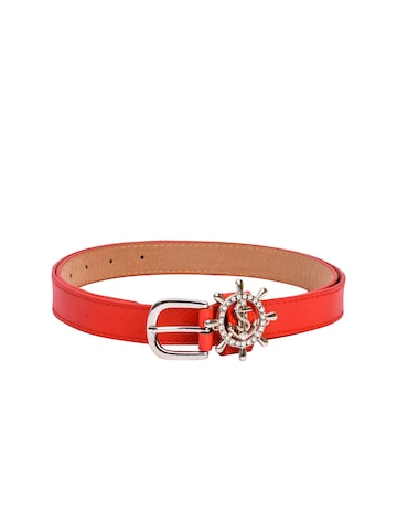 BuckleUp Women Red Embellished Belt BuckleUp Belts at myntra