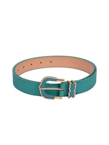 BuckleUp Women Turquoise Blue Solid Belt BuckleUp Belts at myntra