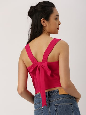 DressBerry Women Pink Solid Crop Top DressBerry Tops at myntra