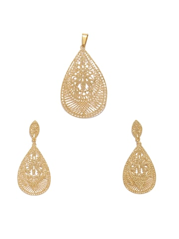 Golden Peacock Gold-Plated Jewellery Set Golden Peacock Jewellery Set at myntra