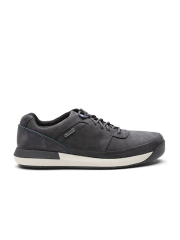 Clarks Men Navy Blue Nubuck Leather Sneakers Clarks Casual Shoes at myntra