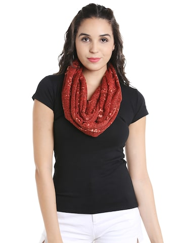 Noi Red Scarf Noi Scarves at myntra