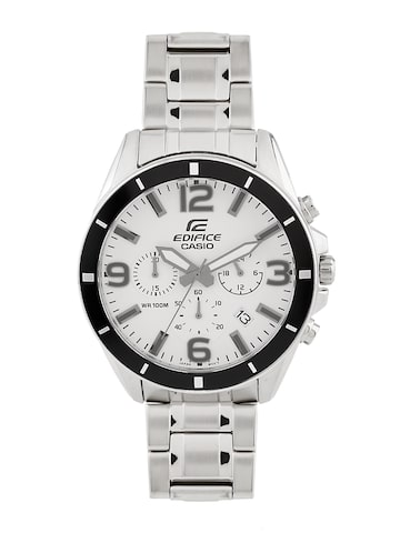 CASIO Edifice Men Silver-Toned Chronograph Watch EX282 CASIO Watches at myntra