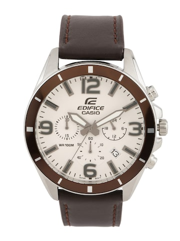 CASIO Edifice Men Brown Chronograph Watch EX284 CASIO Watches at myntra