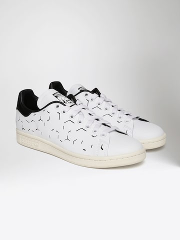 Adidas Originals Women White Stan Smith Cut-Out Sneakers Adidas Originals Casual Shoes at myntra
