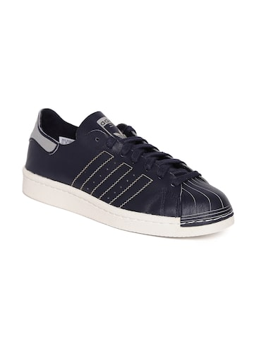 Adidas Originals Women Navy Superstar 80S DECON Leather Sneakers Adidas Originals Casual Shoes at myntra
