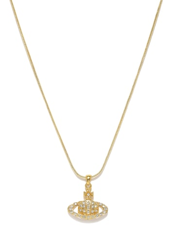 Estelle Women Gold-Plated Saturn-Shaped Pendant With Chain Estelle Pendant at myntra