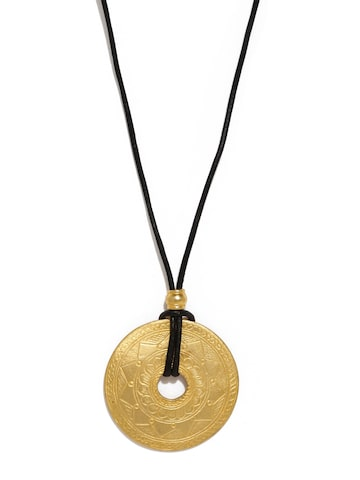 Estelle Women Gold-Plated Circular Pendant With Chain Estelle Pendant at myntra