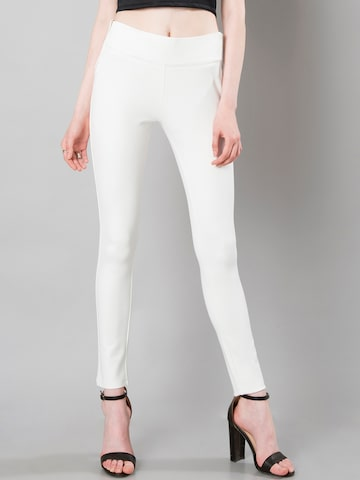 FabAlley White Jeggings FabAlley Jeggings at myntra