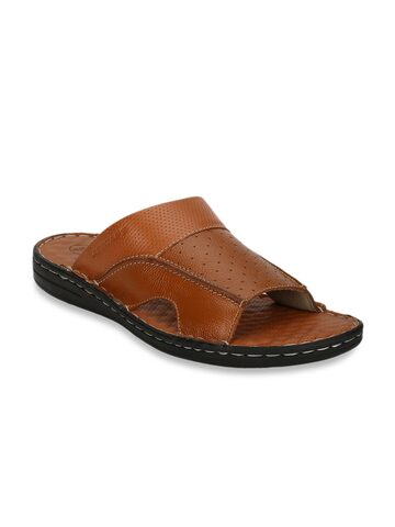 Red Tape Men Tan Brown Leather Sandals Red Tape Sandals at myntra