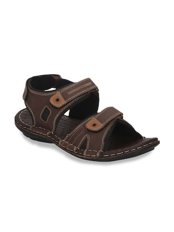 Red Tape Men Coffee Brown Leather Sandals Red Tape Sandals at myntra