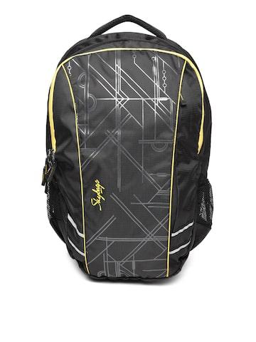 Skybags Unisex Black Printed Laptop Backpack Skybags Backpacks at myntra