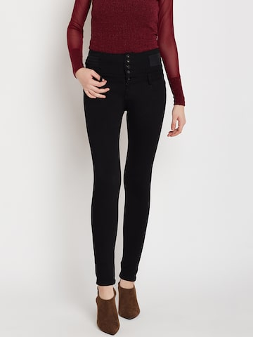Deal Jeans Women Black Solid Regular Trousers Deal Jeans Trousers at myntra