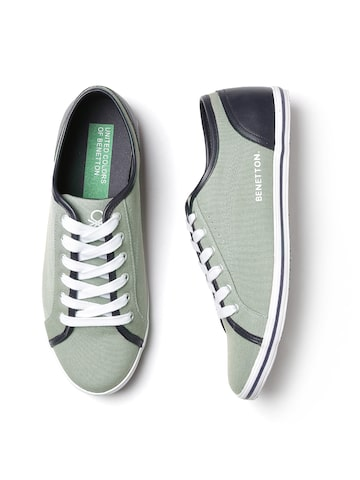 United Colors of Benetton Men Grey Solid Sneakers United Colors of Benetton Casual Shoes at myntra
