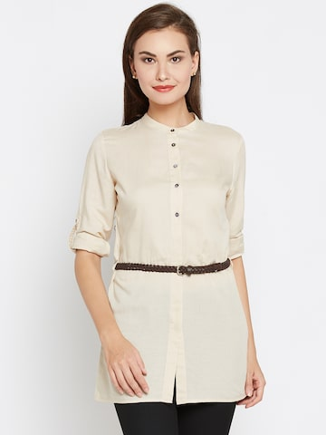 Wills Lifestyle Women Beige Solid Casual Shirt Wills Lifestyle Shirts at myntra