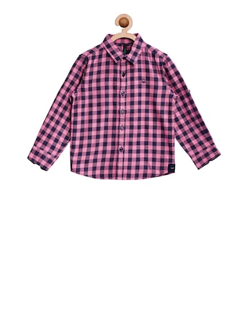United Colors of Benetton Boys Pink Regular Fit Printed Casual Shirt United Colors of Benetton Shirts at myntra