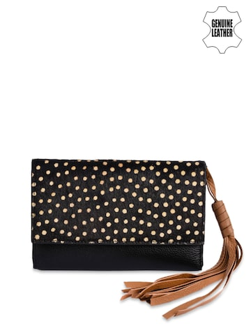 Phive Rivers Women Black Printed Two Fold Leather Wallet Phive Rivers Wallets at myntra
