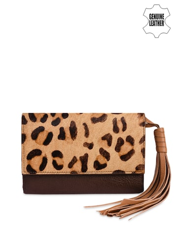 Phive Rivers Women Brown Printed Two Fold Leather Wallet Phive Rivers Wallets at myntra