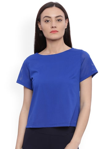 Avirate Women Blue Solid Top Avirate Tops at myntra
