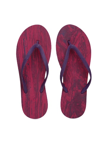 Puma Women Purple & Red First Flip Platform Marble Flip-Flops Puma Flip Flops at myntra