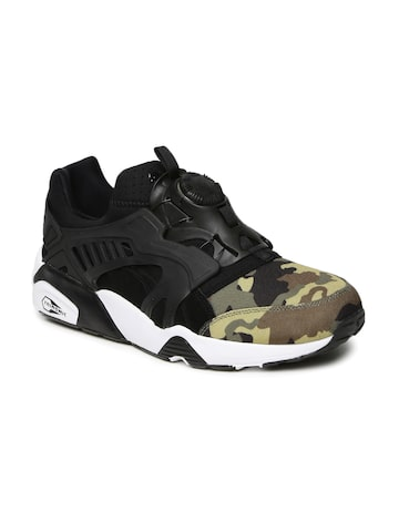 Puma Men Black Disc Blaze Camo Printed Sneakers Puma Casual Shoes at myntra