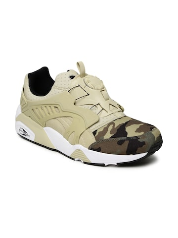 Puma Men Beige Disc Blaze Camo Printed Sneakers Puma Casual Shoes at myntra