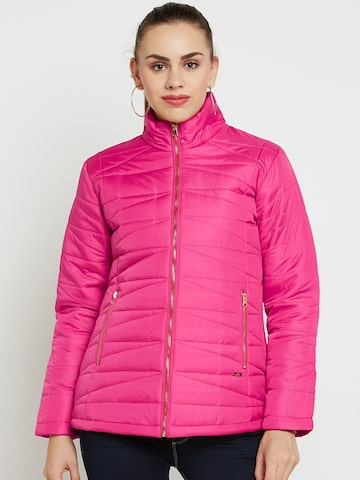 Duke Women Pink Solid Padded Jacket Duke Jackets at myntra