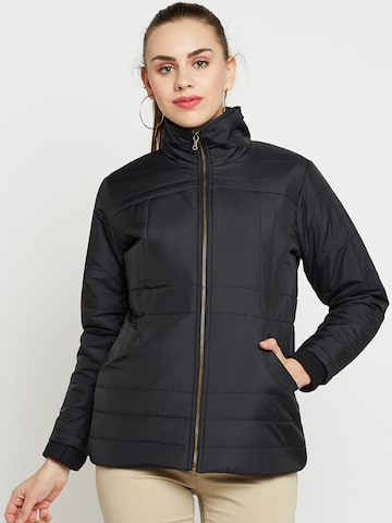 Duke Women Black Solid Padded Jacket Duke Jackets at myntra