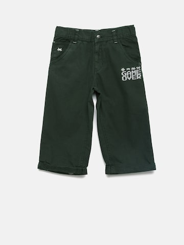 UFO Boys Green Solid Regular Fit Regular Shorts UFO Shorts at myntra