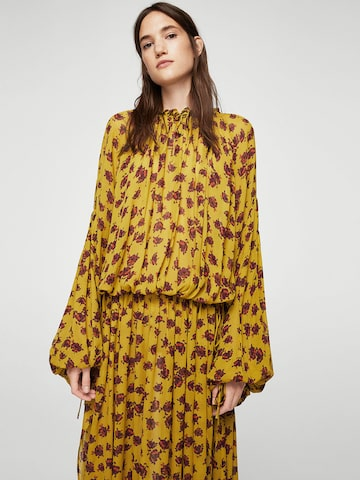 MANGO Women Mustard Yellow Printed Maxi Dress MANGO Dresses at myntra