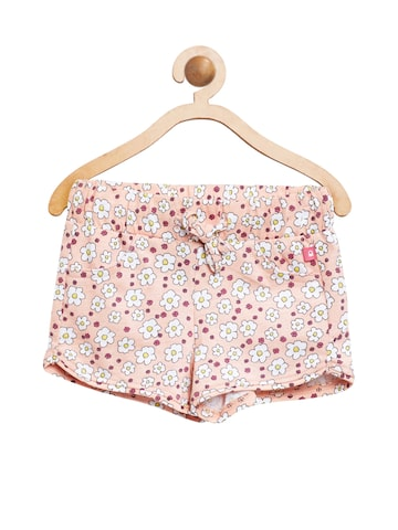 United Colors of Benetton Girls Pink Printed Regular Fit Shorts United Colors of Benetton Shorts at myntra