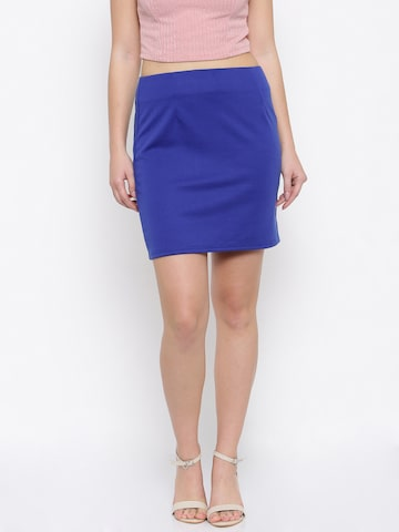 Jealous 21 Blue Pencil Skirt Jealous 21 Skirts at myntra