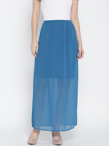 Jealous 21 Blue Maxi Skirt Jealous 21 Skirts at myntra