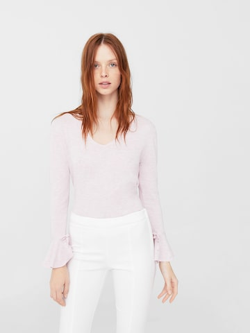 MANGO Women Pink Solid Pullover MANGO Sweaters at myntra
